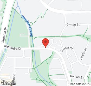 Map of 11 Namatjira Drive, Weston, ACT