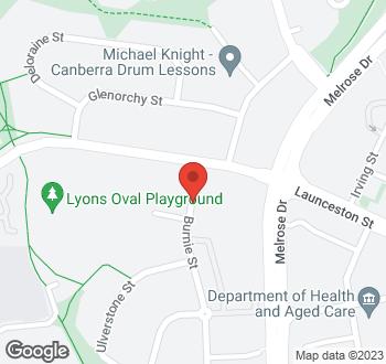 Map of 5 Burnie Street, Lyons, ACT