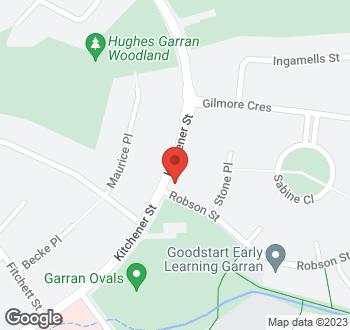 Map of 117 Kitchener Street, Garran, ACT