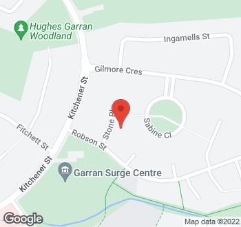 Map of 6 Stone Place, Garran, ACT