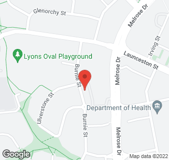 Map of 15 Burnie Street, Lyons, ACT