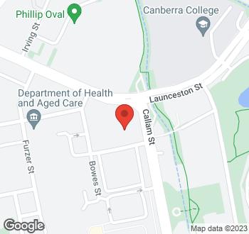 Map of 1 Matilda Street, Phillip, ACT