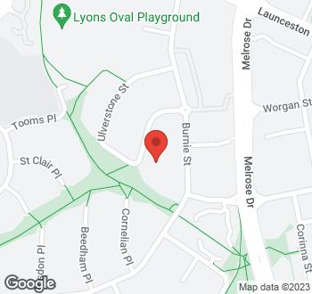 Map of 32 Ulverstone Street, Lyons, ACT
