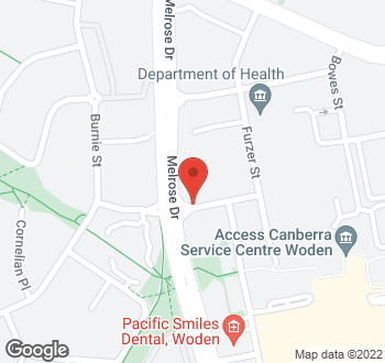 Map of No Address, Phillip, ACT