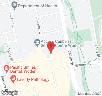 Map of 8 Bradley Street, Phillip, ACT