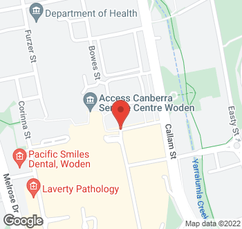 Map of 20 Bradley Street, Phillip, ACT