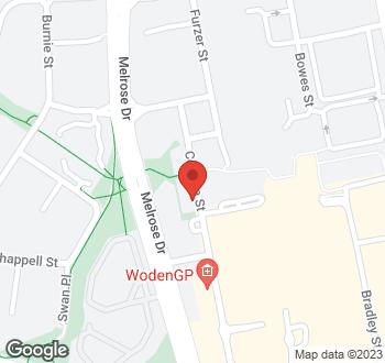 Map of 24 Corinna Street, Phillip, ACT