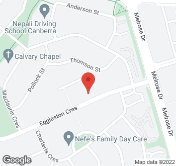 Map of 121 Eggleston Crescent, Chifley, ACT