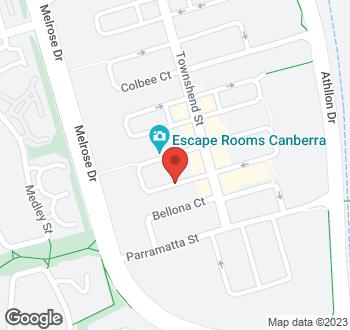 Map of 68 Dundas Court, Phillip, ACT