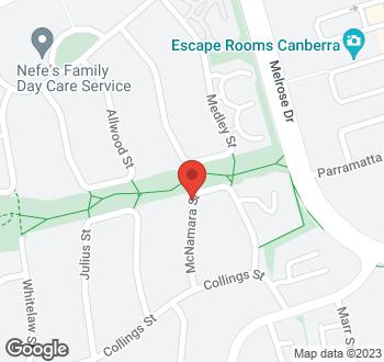 Map of 23 Mcnamara Street, Pearce, ACT