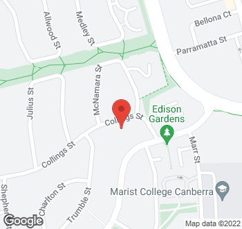 Map of 64 Collings Street, Pearce, ACT