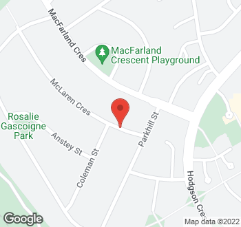 Map of 33 Mclaren Crescent, Pearce, ACT