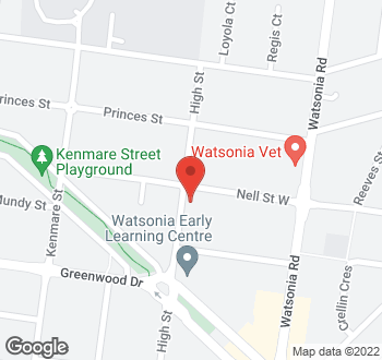 Map of 281 Nell Street, Watsonia, VIC