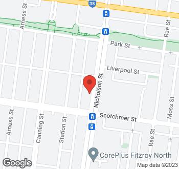 Map of 739 Nicholson St Carlton North VIC 3054