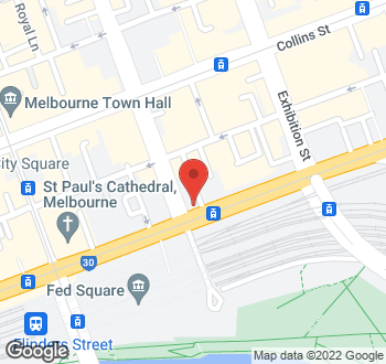 Map of Duke Of Wellington Hotel 142-148 Flinders Street Melbourne VIC 3000