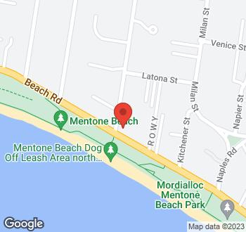 Map of 58 Beach Road, Mentone, VIC
