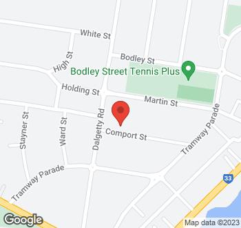 Map of 1 Comport Street, Beaumaris VIC 3193