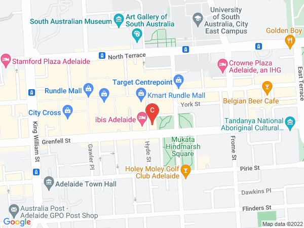 Kaplan's office address in Adelaide