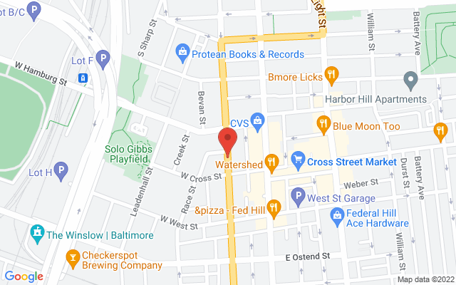 A map showing the location of The Stalking Horse Bar