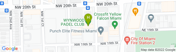 map for Hot Yoga Brickell in Wynwood