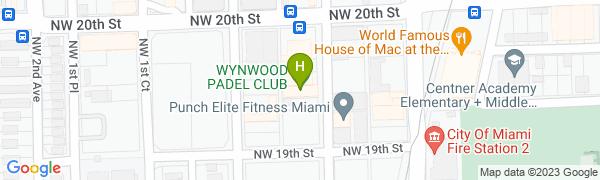 map for Hot Yoga Brickell in Wynwood