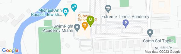 map for Michael-Ann Russell JCC Tennis Center