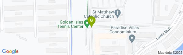 map for Golden Isles Tennis Center