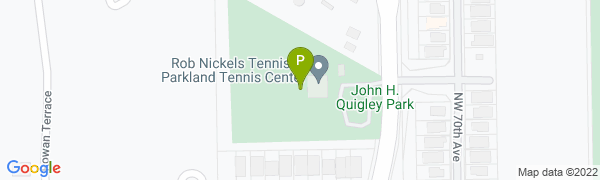 map for Parkland Tennis Center at Quigley Park