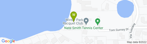 map for Winter Park Racquet Club