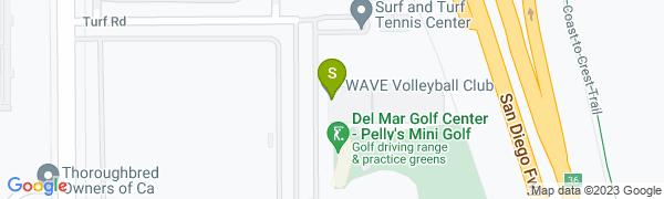 map for Surf & Turf Tennis Club