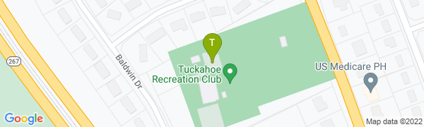 map for Tuckahoe Recreation Club