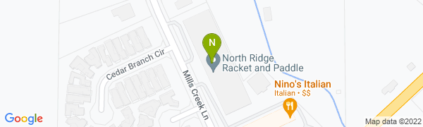 map for North Ridge Racket and Paddle