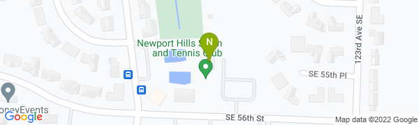 map for Newport Hills Swim & Tennis Club