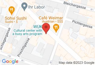 Google map [WUK,+Währinger+Str.+59,+1090+Wien]