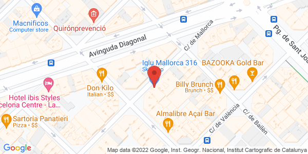 Google Map of C/ Mallorca, 316, Barcelona