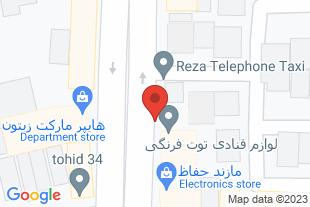 فروشگاه لوازم قنادی توت فرنگی - موقعیت در نقشه