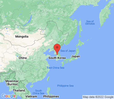 TV Network, Korea, Republic of - Map view