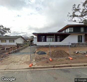 Streetview of 23 Brennan Street, Hackett, ACT