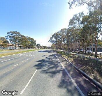 Streetview of 13 Irving Street & Melrose Drive, Phillip, ACT