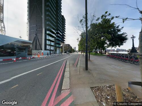 Albert Embankment as seen on Google Street View