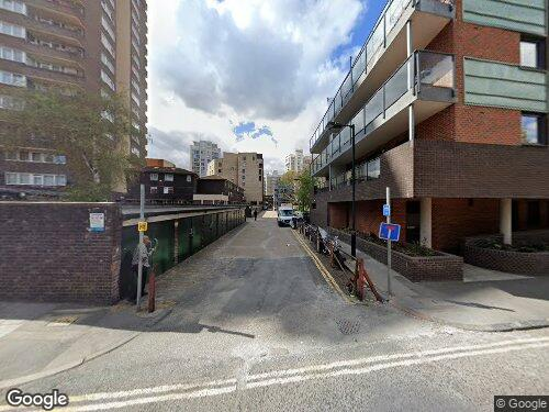 Meadow Row as seen on Google Street View