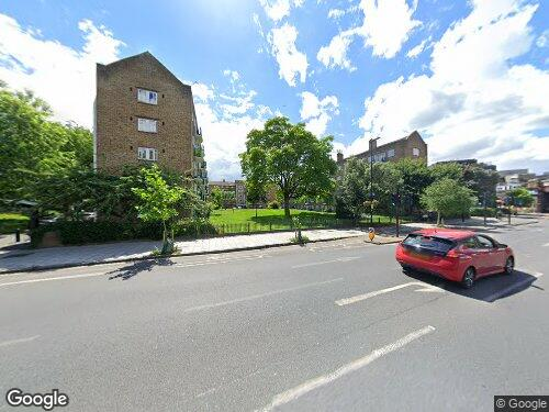 Lambeth Road as seen on Google Street View