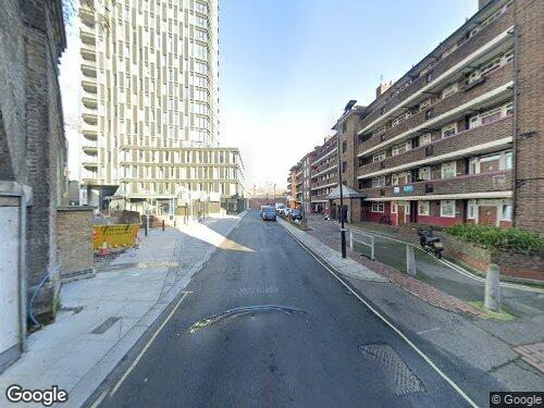 Tiverton Street as seen on Google Street View