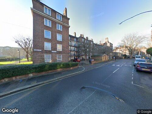 Manciple Street as seen on Google Street View