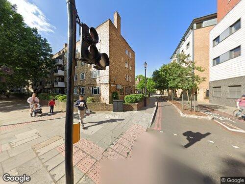 Globe Street as seen on Google Street View