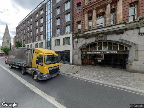 Westminster Bridge Road as seen on Google Street View