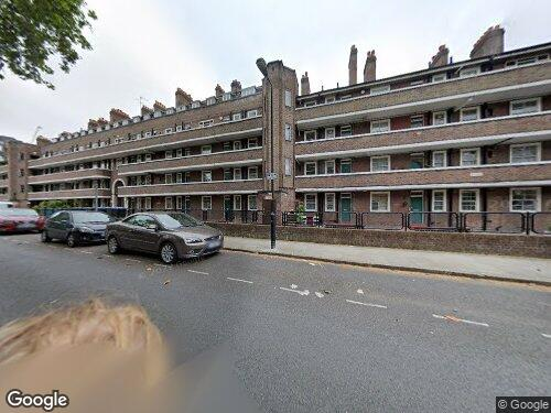 Surrey Row as seen on Google Street View
