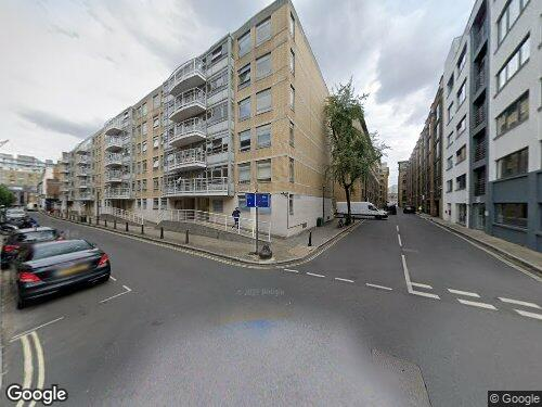 Curlew Street as seen on Google Street View