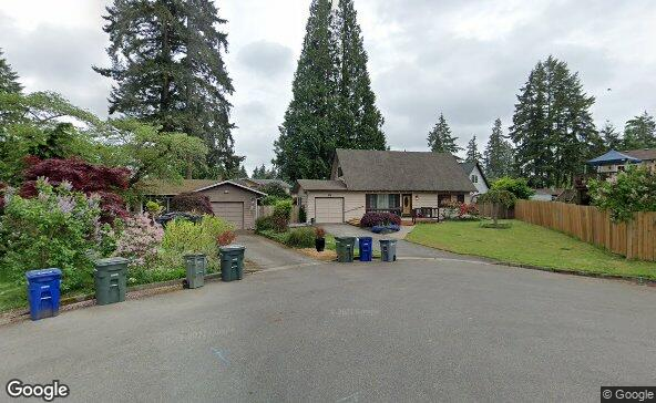 Street view of 218 218th Pl Se