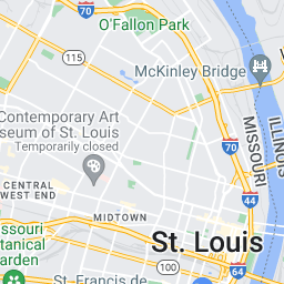 Three Shot In Separate Incidents Tuesday Night St Louis Police - St louis on us map